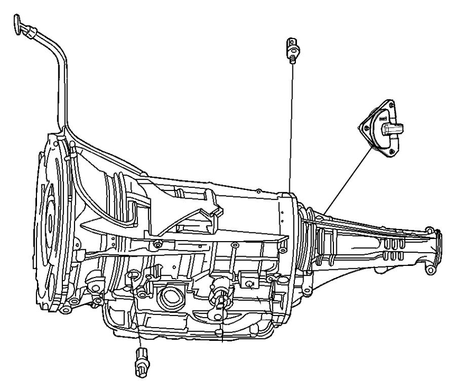 2012 Dodge Ram 1500 Sensor. Transfer case position. Rail