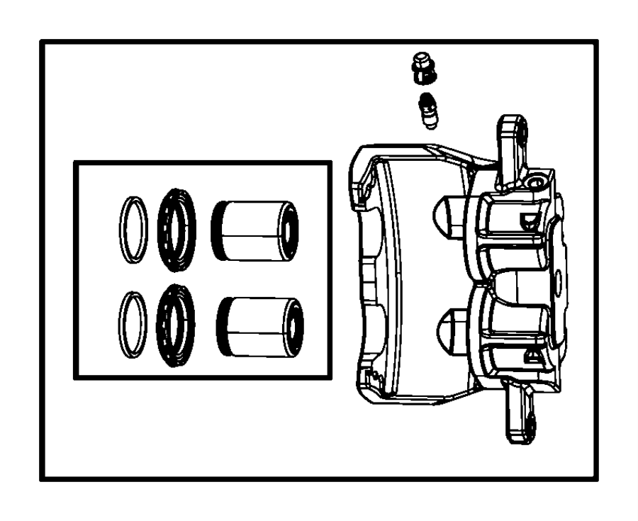 Dodge Magnum Caliper Assembly Disc Brake Front