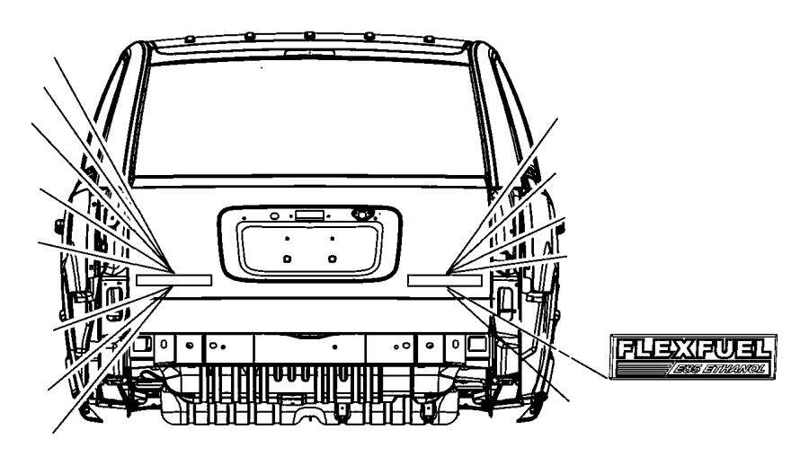 2012 Jeep Grand Cherokee Nameplate. Flex fuel e85 ethanol
