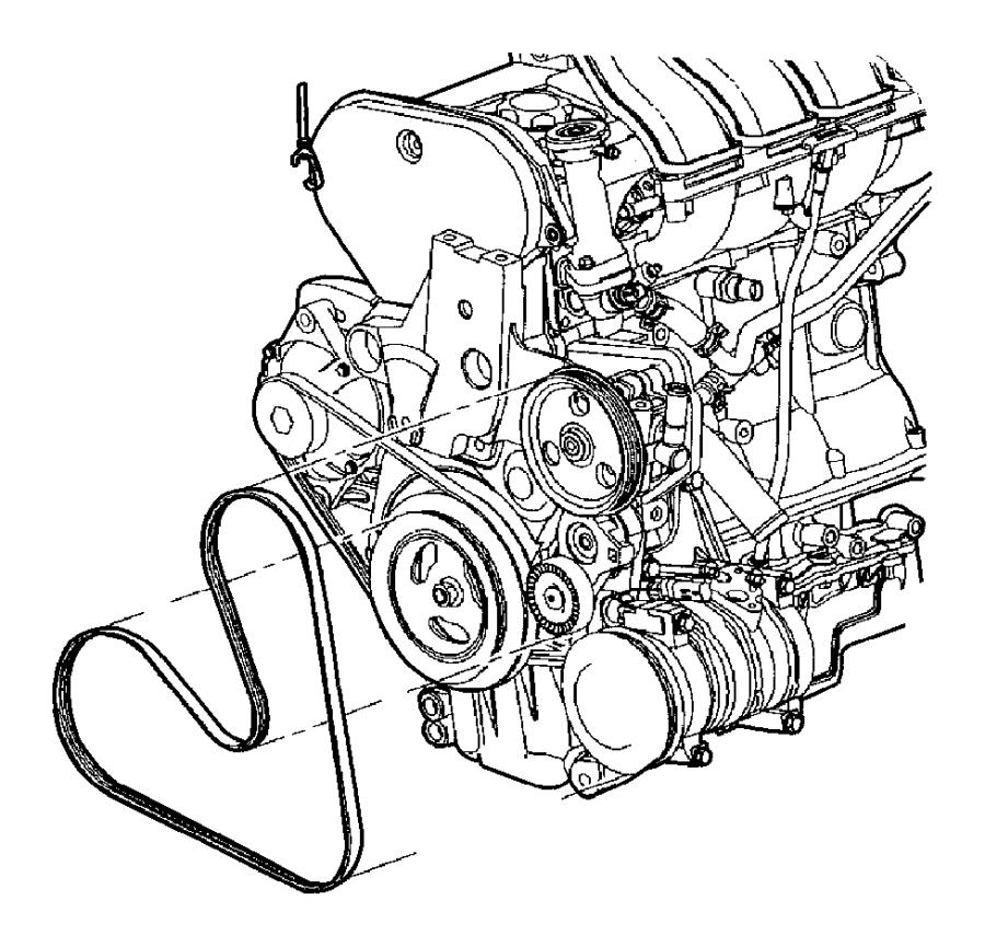 2010 Dodge Dakota Belt. Accessory drive, serpentine. Power