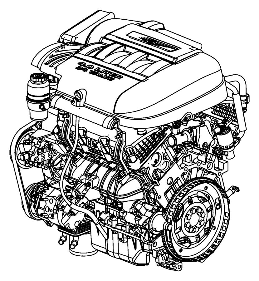 2010 Dodge Grand Caravan Engine. Long block