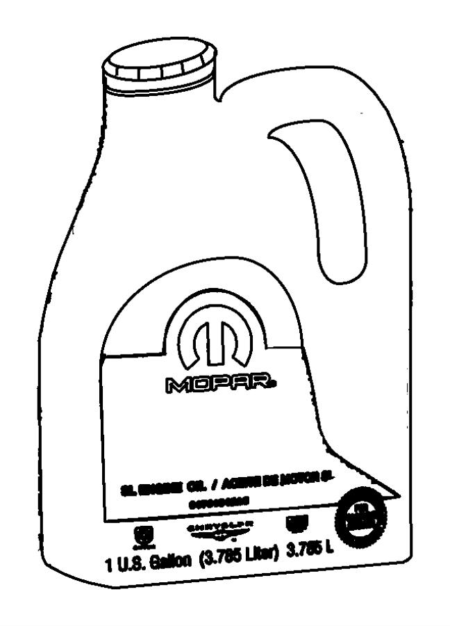 2009 Chrysler Sebring Engine oil. 10w30. Gallon. Minimum