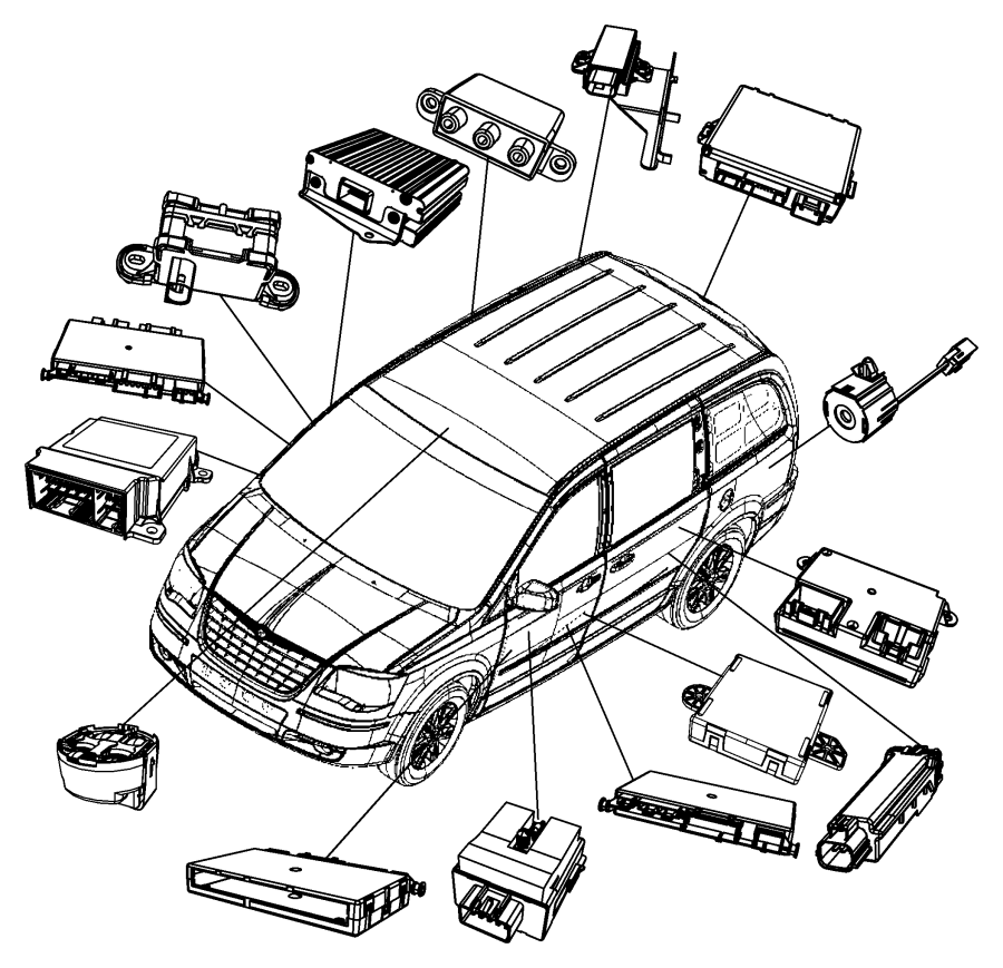 2011 Chrysler Sebring Module, sensor. Dynamics, electronic