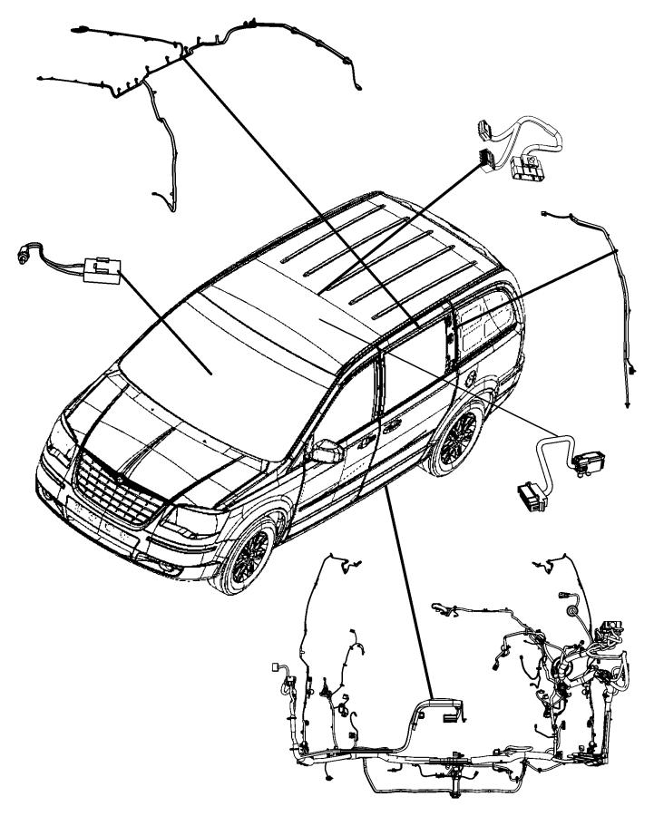 2010 Dodge Grand Caravan Wiring. Unified body. Base