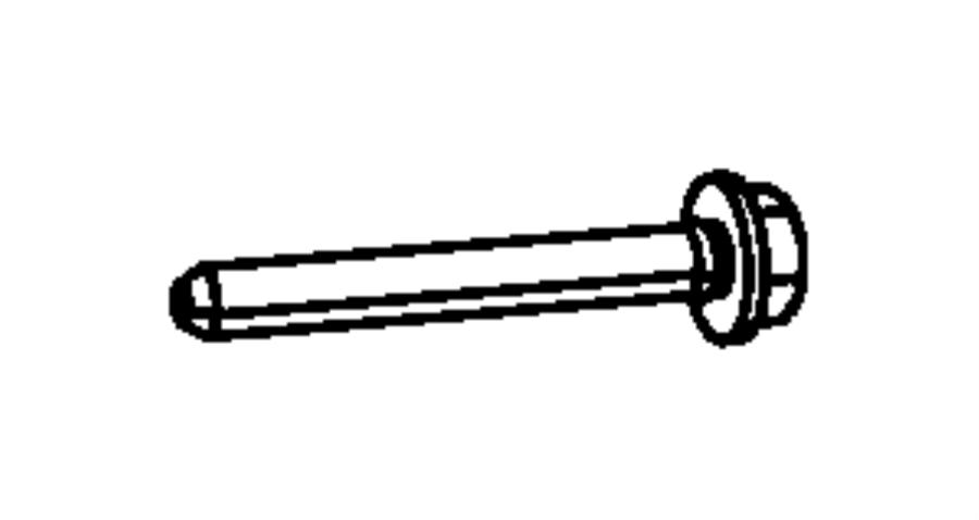 Jeep Compass Screw. Torx. M6x1.00x50. Mounting, right