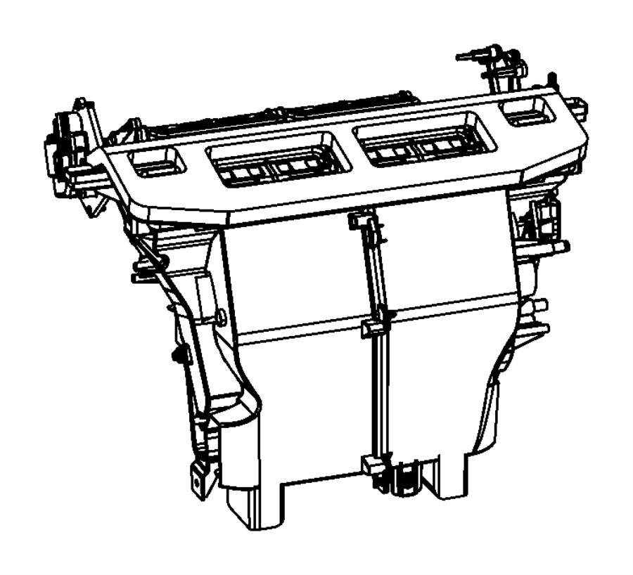 2013 Dodge Charger Actuator. Used for: a/c and heater