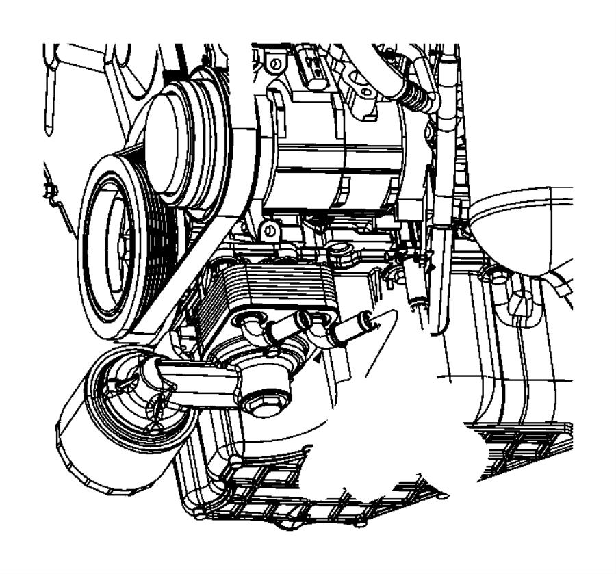 2010 Dodge Grand Caravan Hose. Oil cooler outlet. [engine