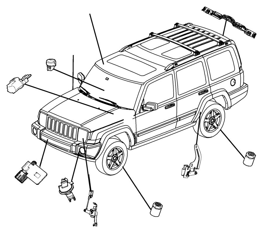 2008 Jeep Commander Sensor. Washer fluid level. System