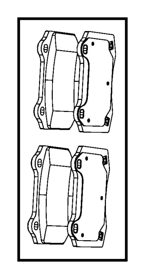 2009 Jeep Grand Cherokee Pad kit. Rear disc brake. Axle