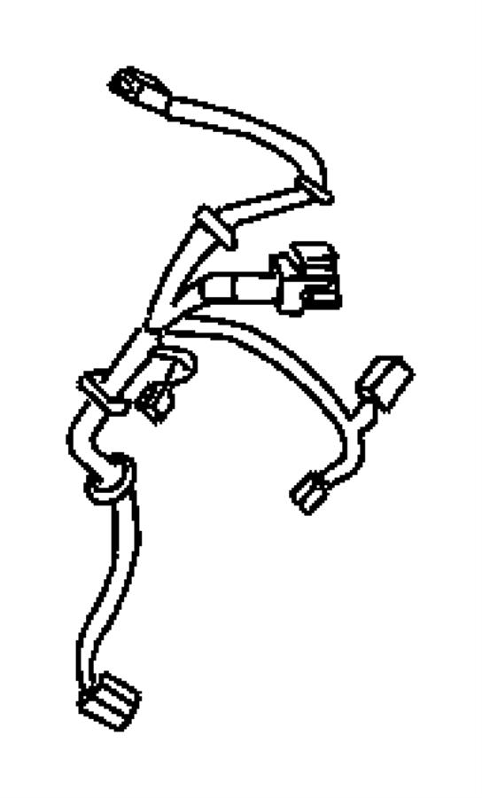 2009 Chrysler PT Cruiser Wiring. Seat. Manual, side air