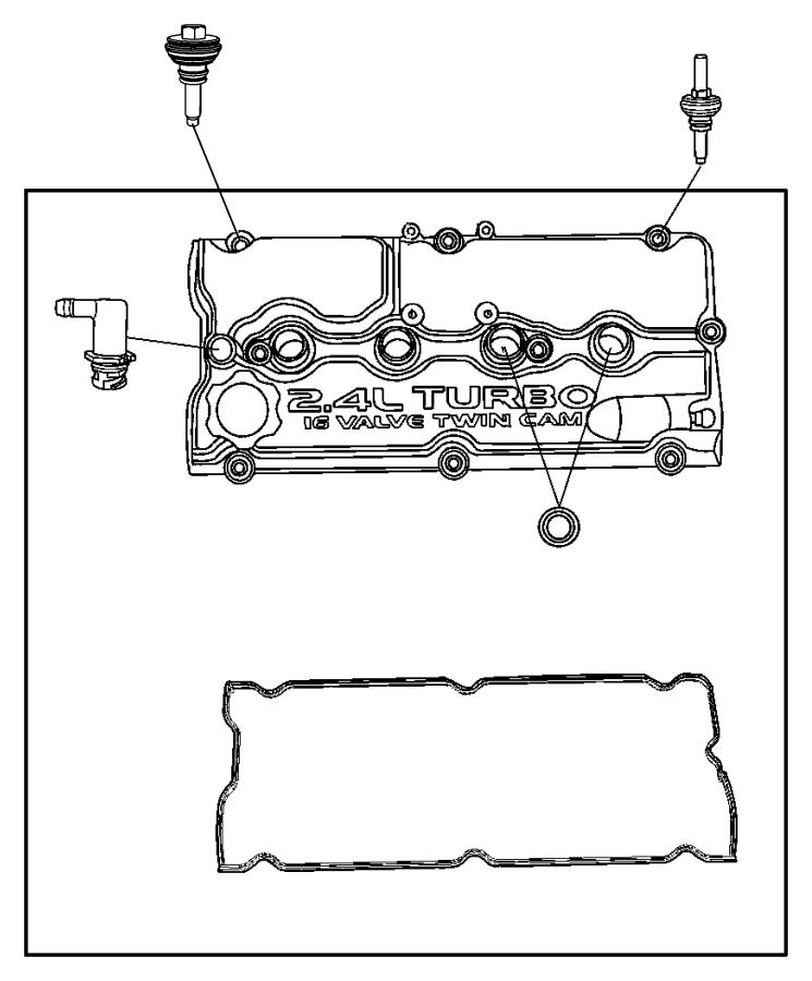 2004 Dodge Stratus Gasket. Cylinder head cover, valve