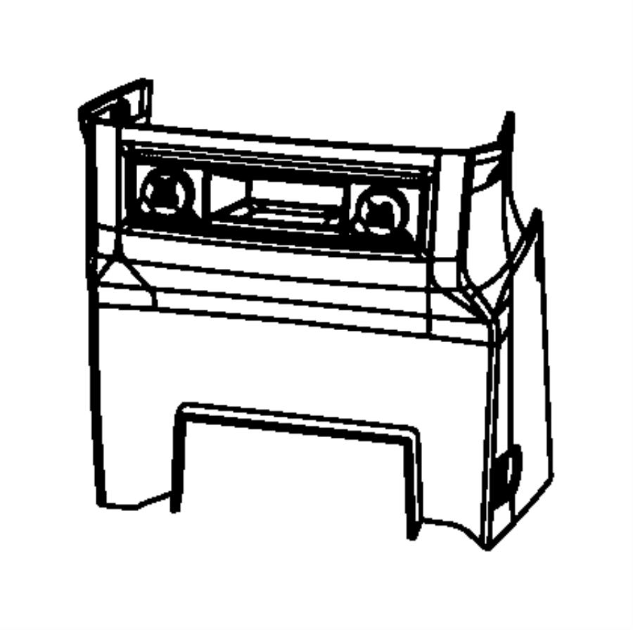 Dodge Grand Caravan Bezel. Instrument panel. Lower. [vs