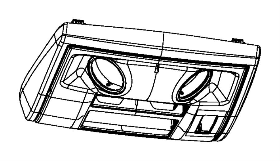 2009 Dodge Grand Caravan Console. Overhead. Trim: [*o0