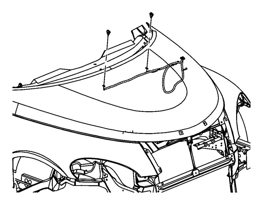 2002 Chrysler PT Cruiser Hose. Windshield washer. Hood