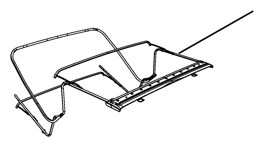 2010 Jeep Wrangler Bow kit. Folding top. Side. Left. Non
