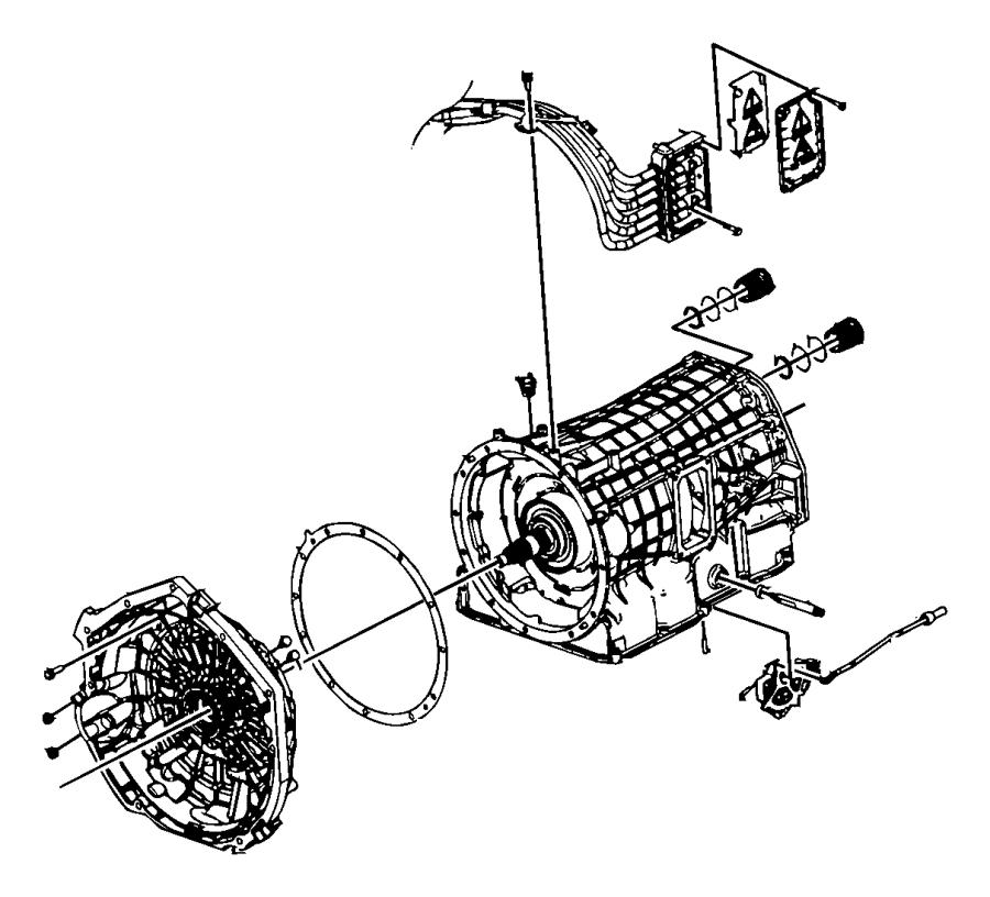 2009 Dodge Durango Shaft. Manual selector. Transmission