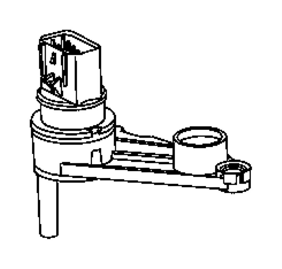 2011 Dodge Dakota Sensor. Manual valve lever. Trans range