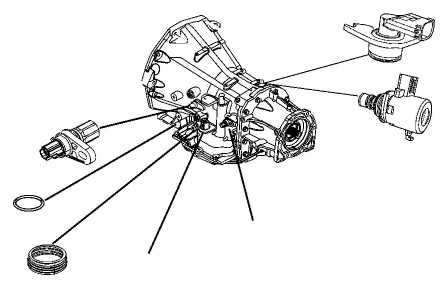2010 Dodge Avenger Sensor. Transmission output speed