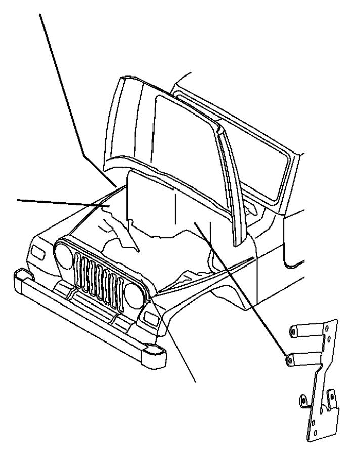 2008 Jeep Wrangler Bracket. Wiring. Export. Dash to engine