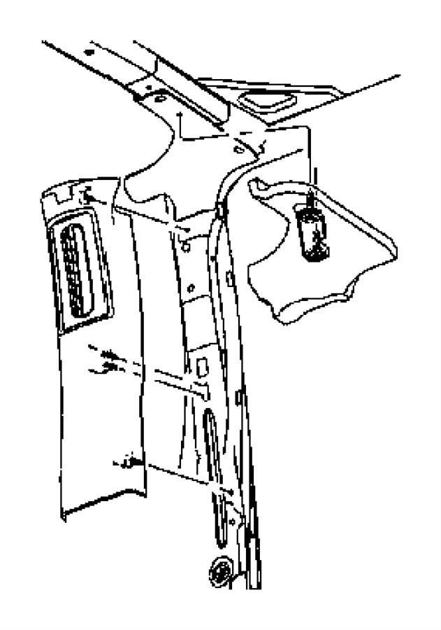 2009 Jeep Wrangler Molding. B pillar. Right. Trim: [all