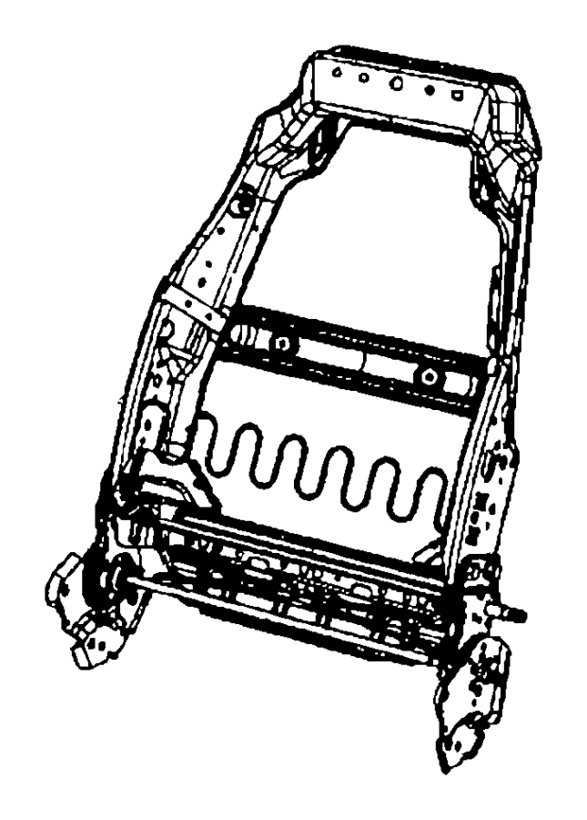 Jeep Wrangler Frame. Front seat back. Left. Trim: [vinyl