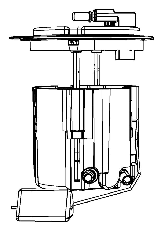 2007 Jeep Wrangler Module kit. Fuel pump/level unit