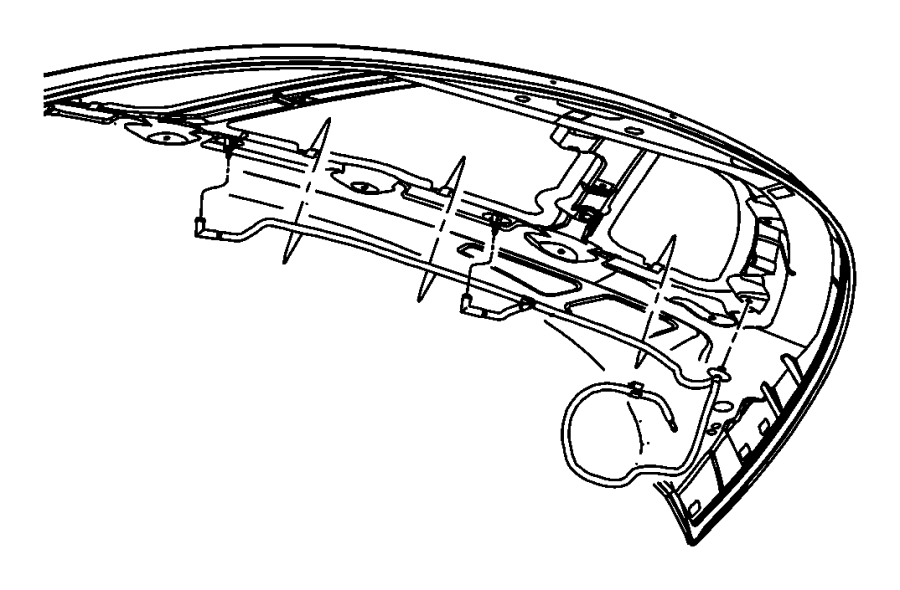 2005 Chrysler PT Cruiser Hose. Windshield washer. Export
