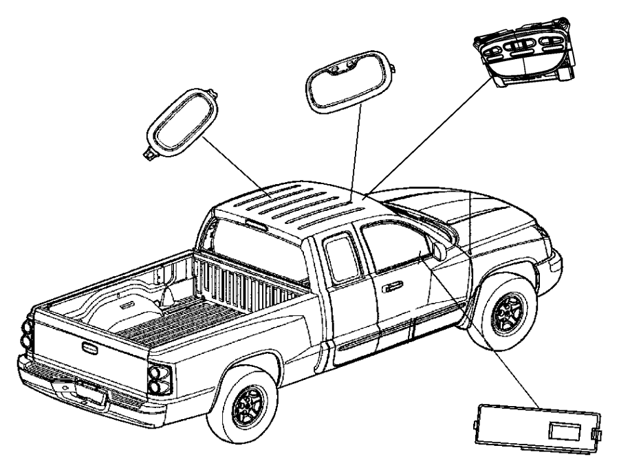 1991 Dodge Grand Caravan Lamp. Message center. Over head