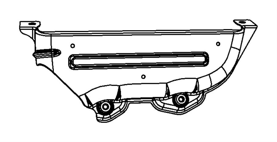 2008 Dodge NITRO Shield. Exhaust manifold. Right. Egs