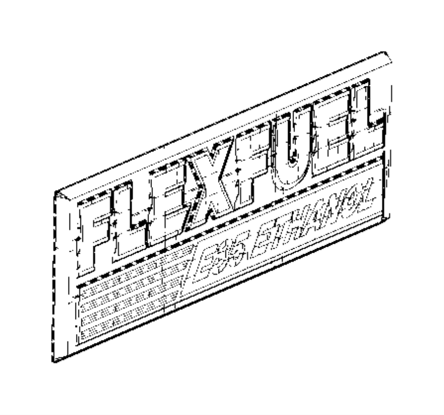 2010 Chrysler Town & Country Nameplate. Flex fuel e85