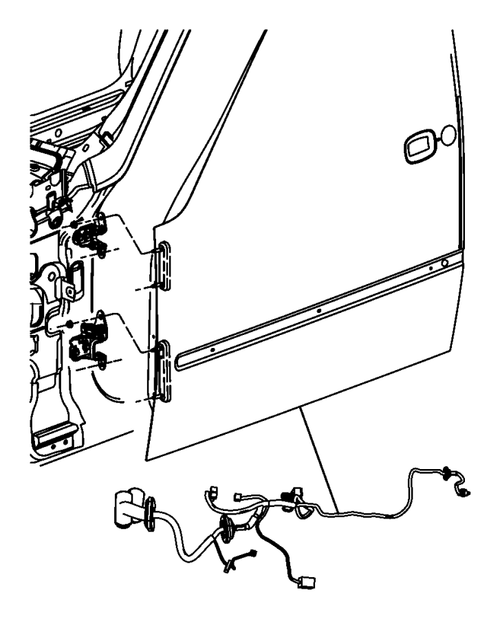Jeep Liberty Wiring. Front door. Left, passenger. [pwr