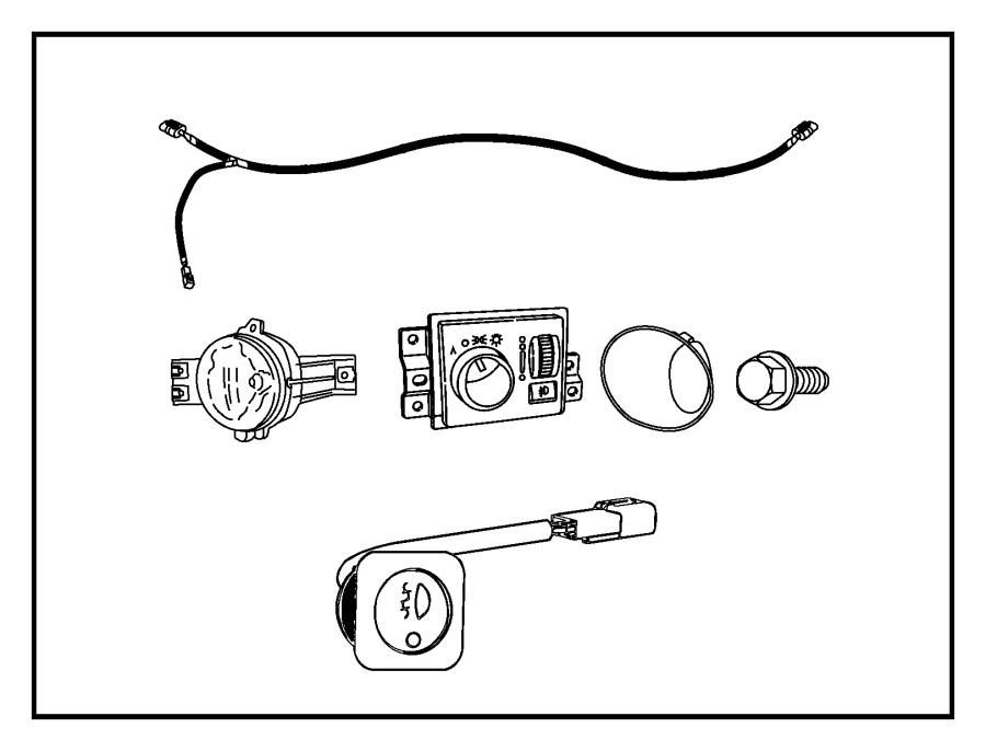 2007 Dodge Ram 1500 Switch. Headlamp. Fog, lamps, lnj