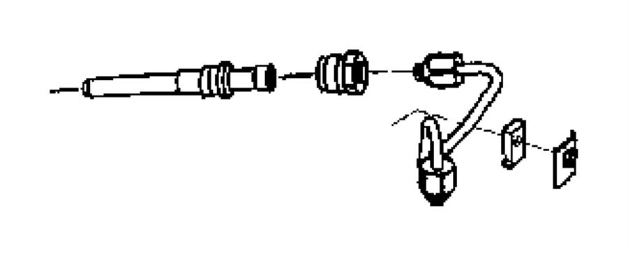 Dodge Ram 3500 Tube. Fuel injector supply. Emissions