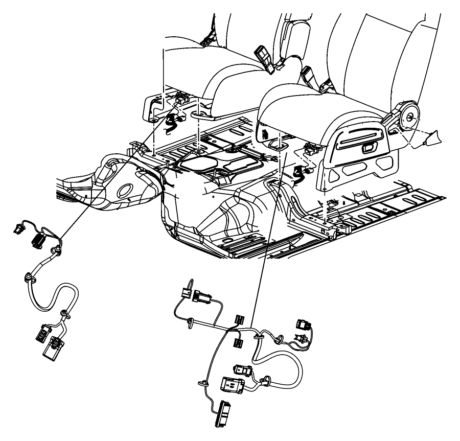 Jeep Liberty Wiring. Power seat. Export. 2 way, 2 way