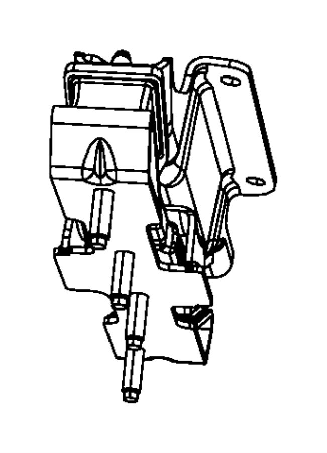 2006 Jeep Commander Insulator. Transmission support