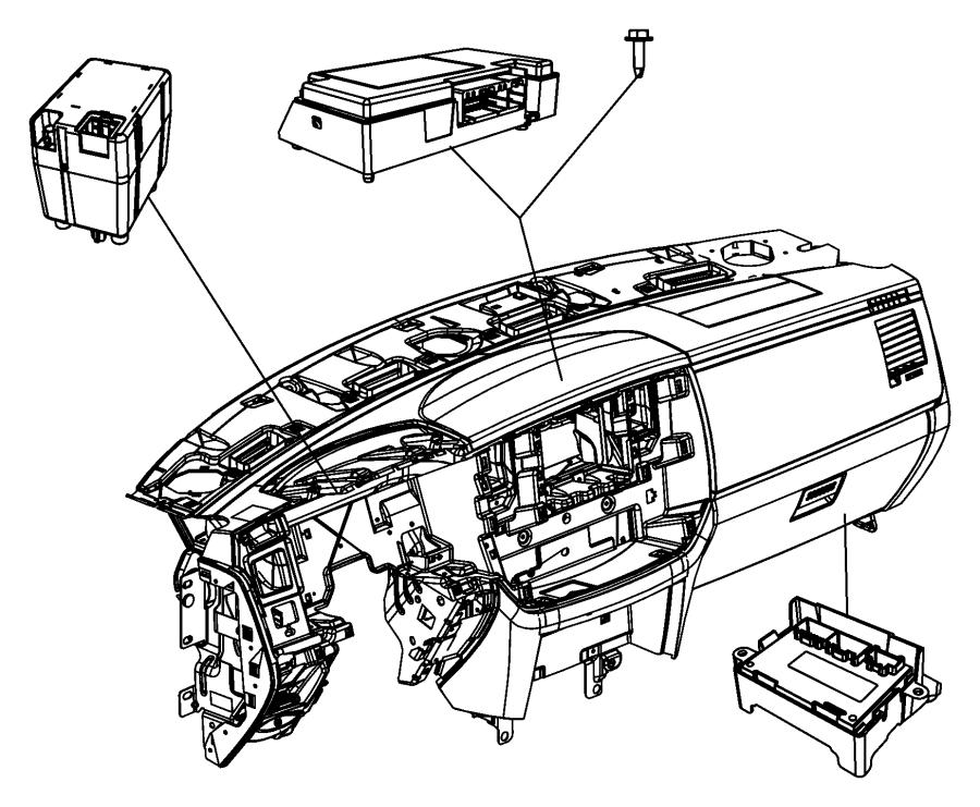 2011 Dodge Ram 4500 Module. Transfer case control. Shift