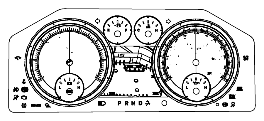 Dodge Ram 1500 Cluster. Instrument panel. [[instrument