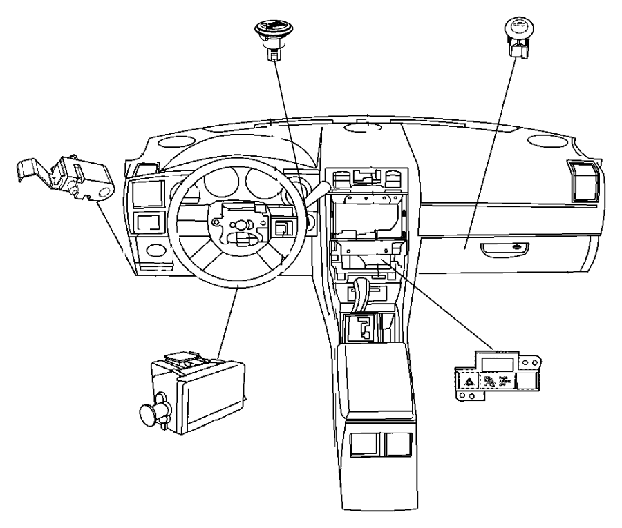2015 Dodge Challenger Switch. Parking brake. Dfe