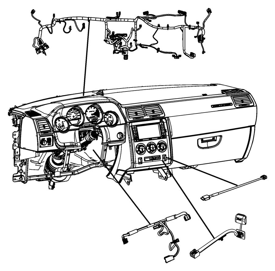 2009 Dodge Challenger Wiring. Instrument panel. Spkrs