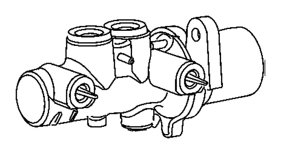 2009 Chrysler 300 Master cylinder. Brake. [anti-lock 4