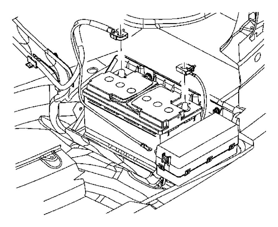 2010 Chrysler 300 Wiring. Battery negative. Tray
