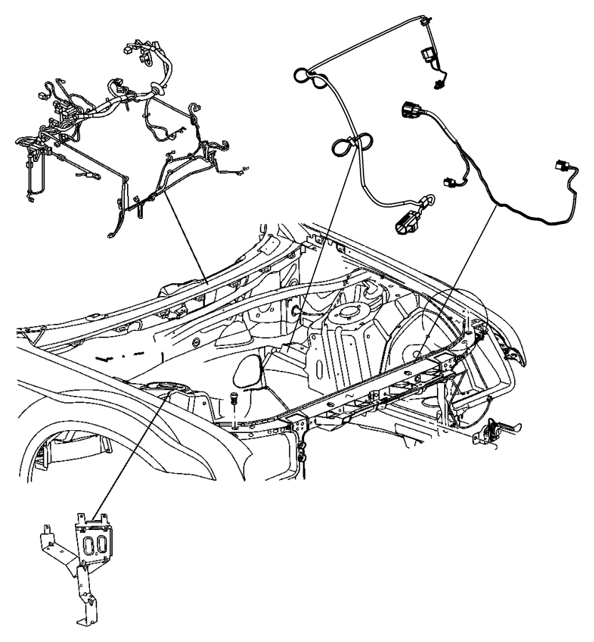 2007 Dodge Magnum Wiring. Fan motor. Pstandard