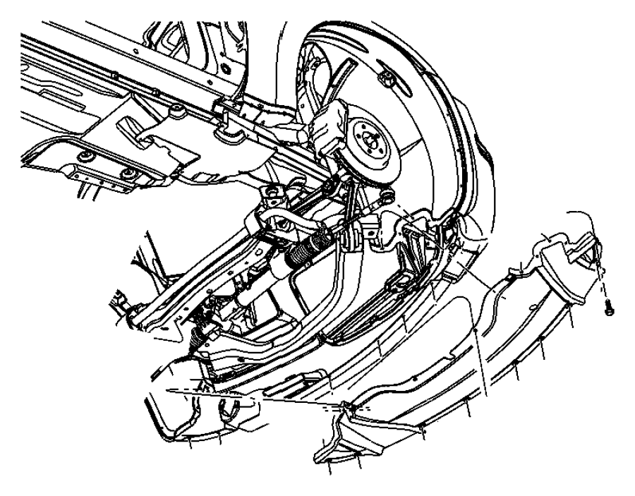 Dodge Charger Belly pan. Front. [eso], [srt], all v-8