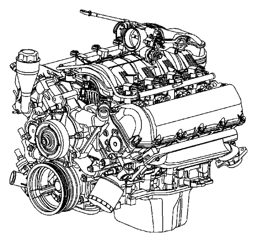 Dodge Ram 1500 Engine. Long block. Remanufactured