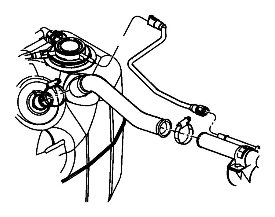 Dodge Ram 1500 Hose. Fuel filler. Tube, tank, mopar