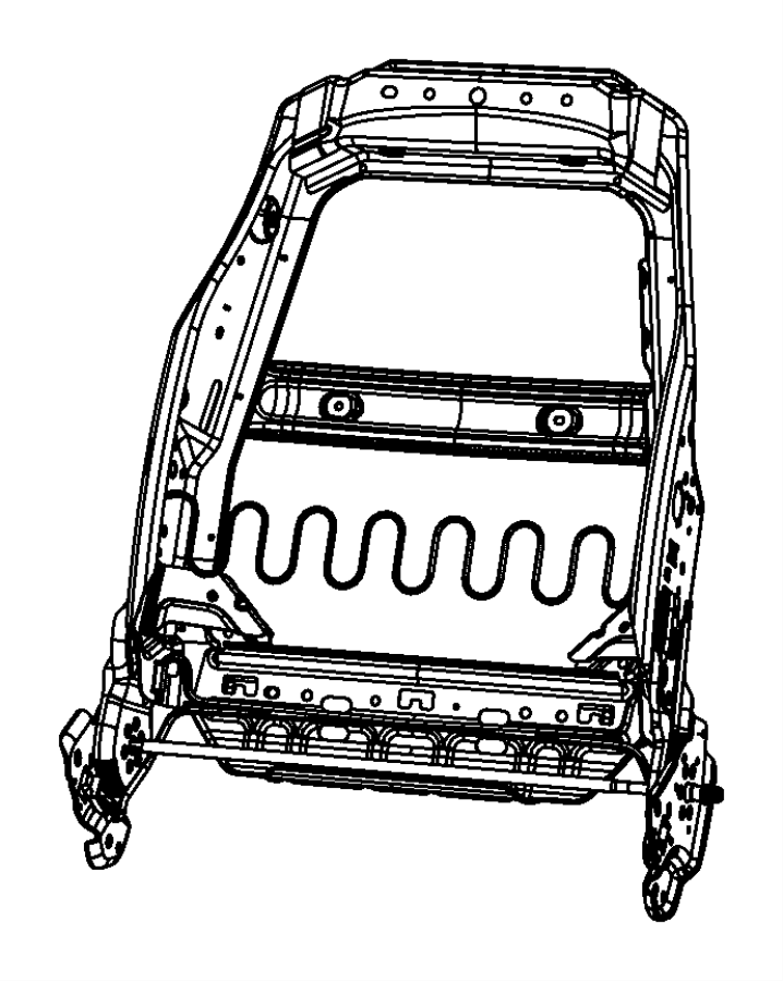 2008 Jeep Liberty Frame. Front seat back. Left, passenger