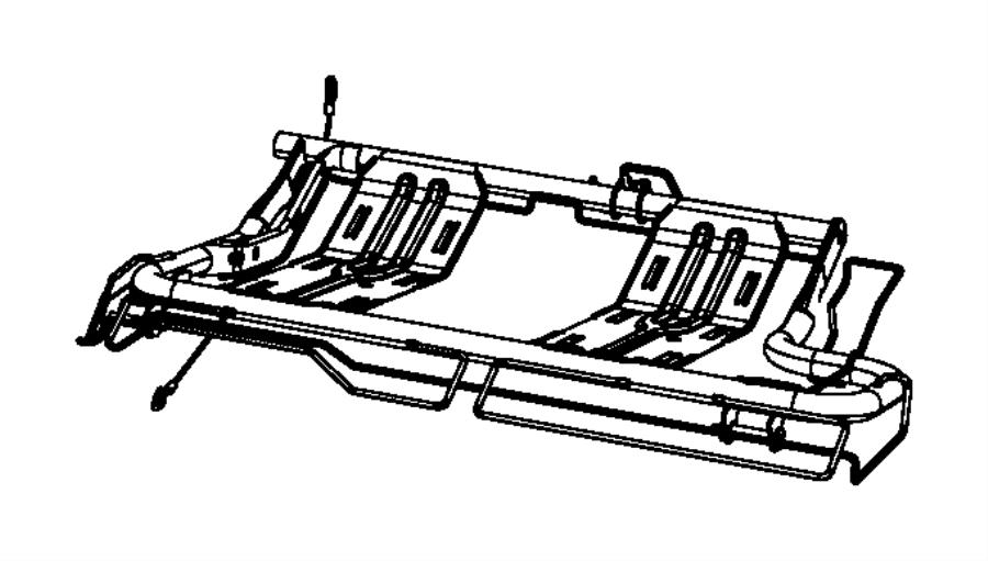 Jeep Liberty Frame. Seat cushion. Left. Trim: [cloth lo