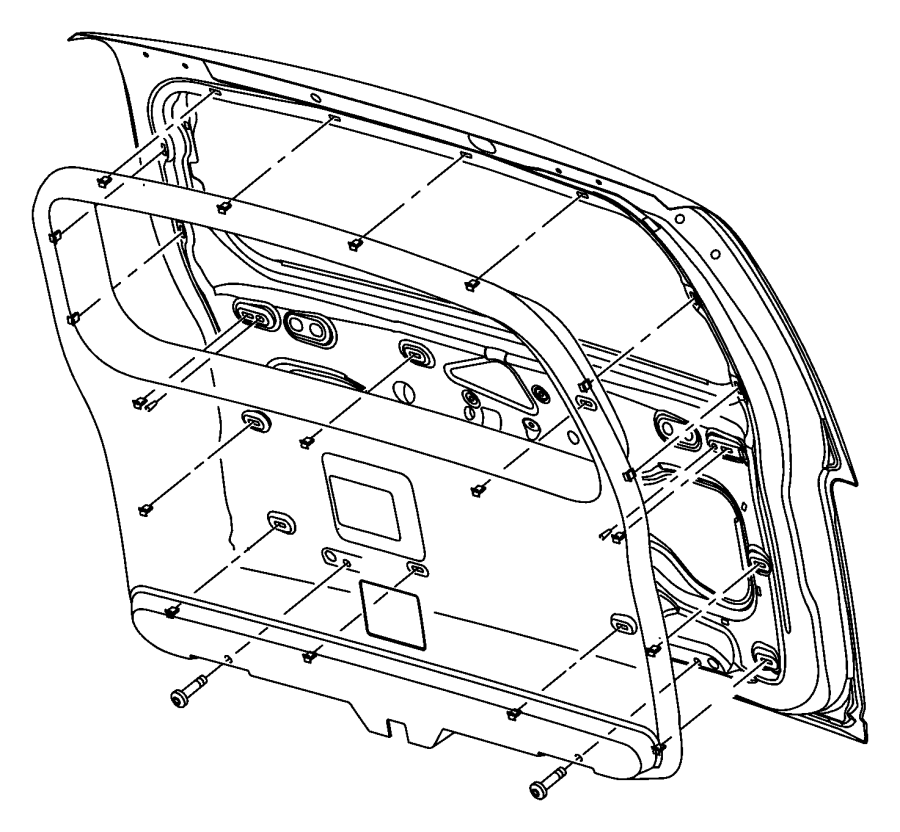 2009 Jeep Liberty Panel. Liftgate. Trim: [all trim codes