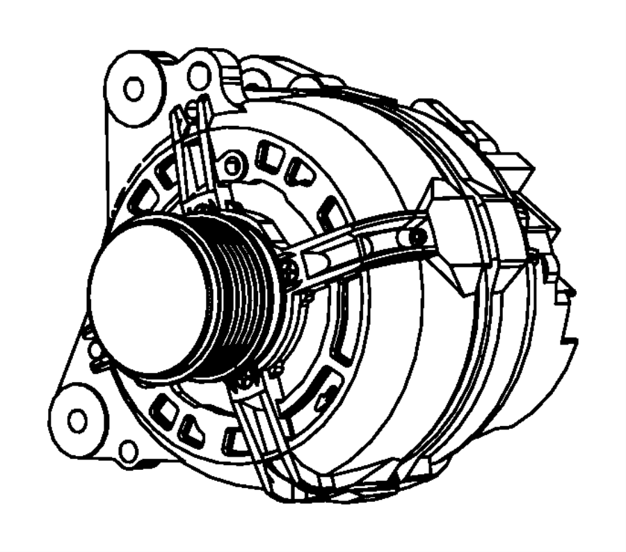 2012 Jeep Patriot Cap. Alternator pulley. Amp, module