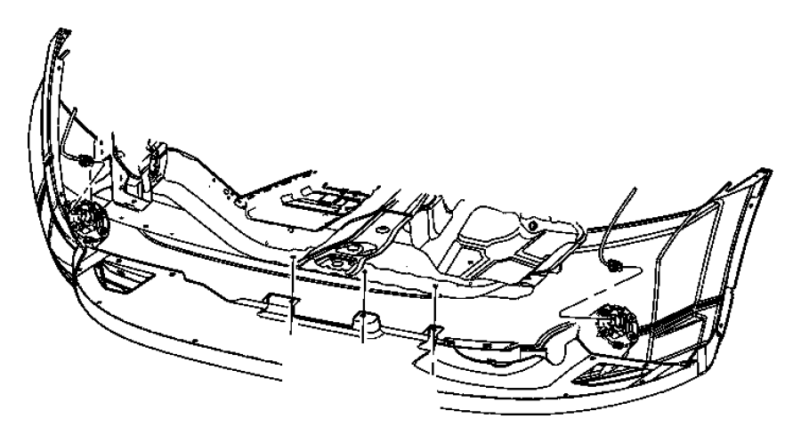 2008 Dodge Caliber Panel. Lower fascia. Body, color